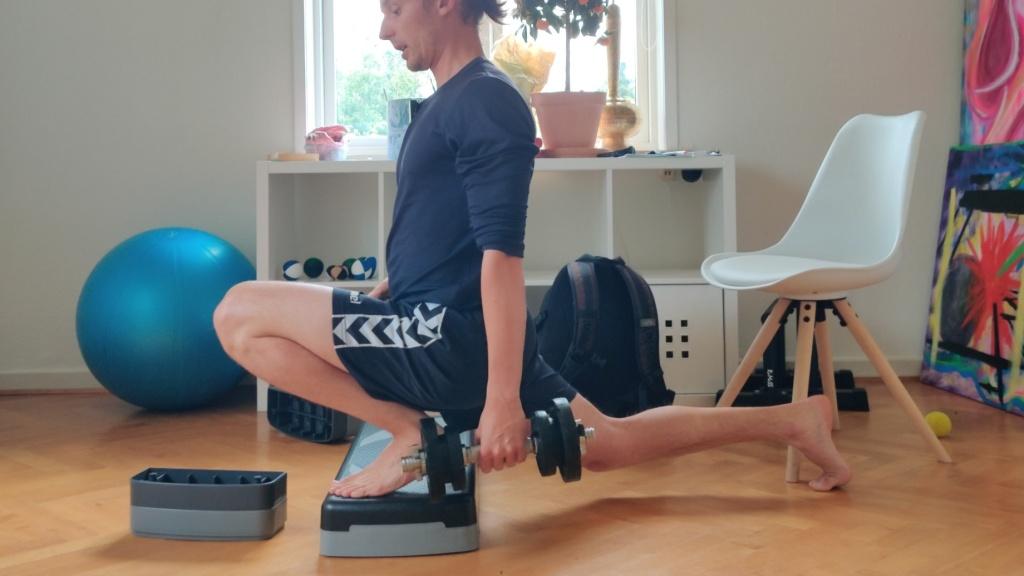 Split squat med maximalt bøjer knæ
